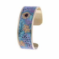 Bracelet Femme Manchette Fleurs LOUISE'S GARDEN Acier Doré