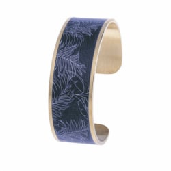 Bracelet Femme Manchette Fougères LOUISE'S GARDEN Acier Doré