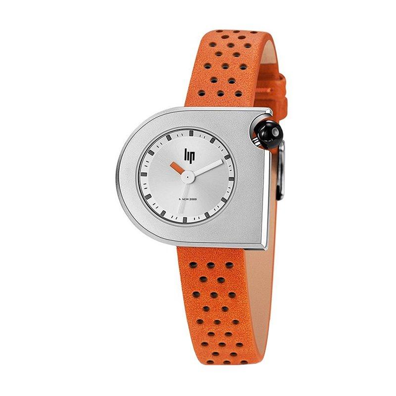 Montre Femme LIP MACH 2000 Cuir Orange