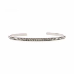 Bracelet Femme Jonc INTERCHANGEABLE NEW FULL Métal palladié et Cristaux