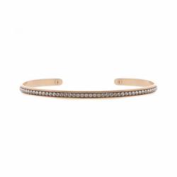 Bracelet Femme Jonc INTERCHANGEABLE NEW FULL Métal doré rose et Cristaux