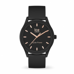 Montre Femme Solaire ICE WATCH Black rose-gold Silicone Noir