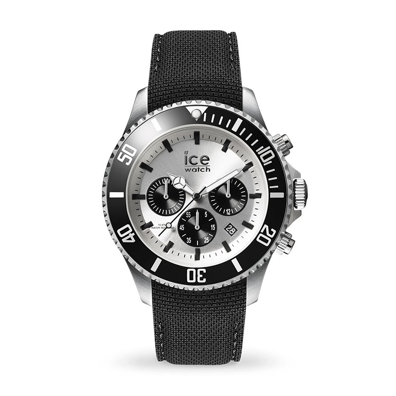 Montre homme ICE WATCH STEEL chrono black / silver