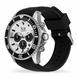 Montre homme ICE WATCH STEEL chrono black / silver