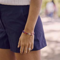 Bracelet TOM HOPE ARCTIC BLUE S ARGENT 925/1000 et Cordon