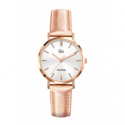 Montre femme Girl Only cuir rose clair brillant