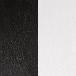 Cuir Rond pour Pendentif Les Georgettes Noir et Blanc
