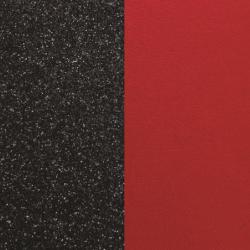 Cuir Rond Pour Pendentif Les Georgettes Noire et Rouge
