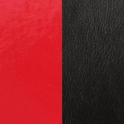 Cuir Rond Pour Pendentif Les Georgettes Rouge et Noir