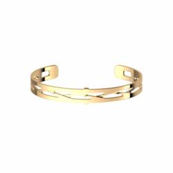 Bracelet Femme Manchette TRESSE Les Georgettes Les Essentielles Doré