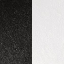 Cuir Demi-Lune Réversible Pour Boucles d'Oreilles Les Georgettes Noir et Blanc