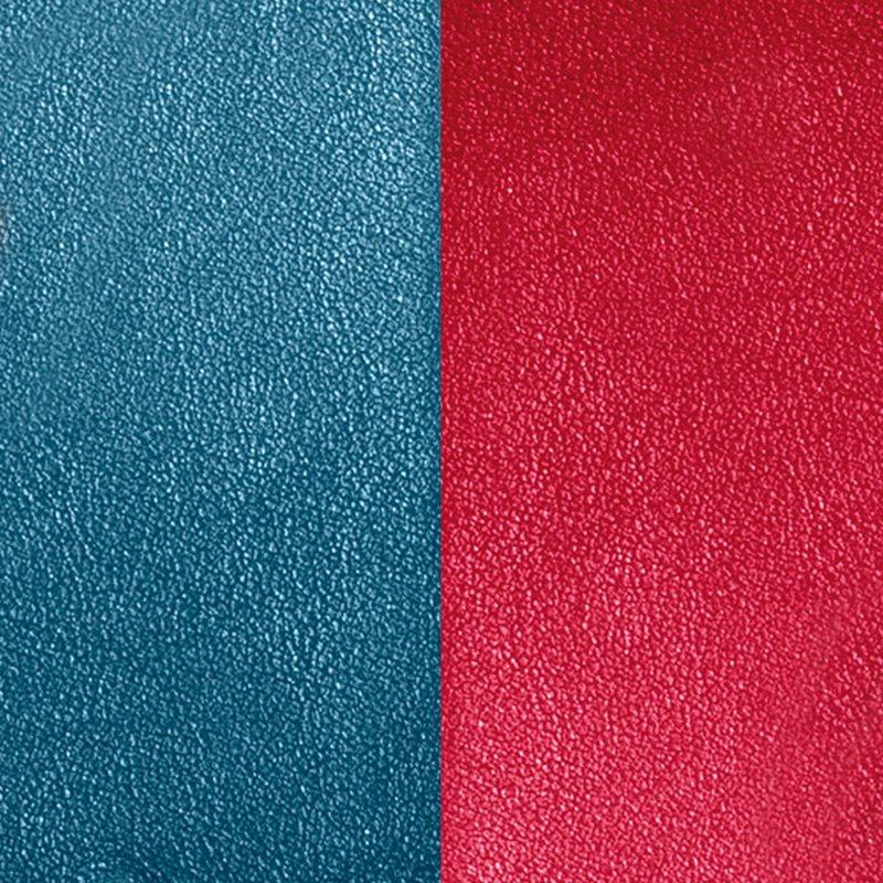 Vinyle Demi-Lune Réversible Pour Boucles d'Oreilles Les Georgettes Bleu et Framboise