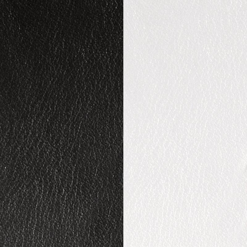 Vinyle Demi-Lune Réversible Pour Boucles d'Oreilles Les Georgettes Noir et Blanc