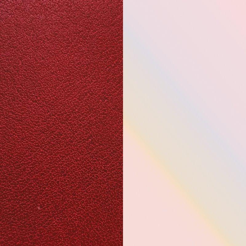 Vinyle Demi-Lune Réversible Pour Boucles d'Oreilles Les Georgettes Carmin et Coquillage