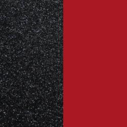 Vinyle Demi-Lune Réversible Pour Boucles d'Oreilles Les Georgettes Noir et Rouge