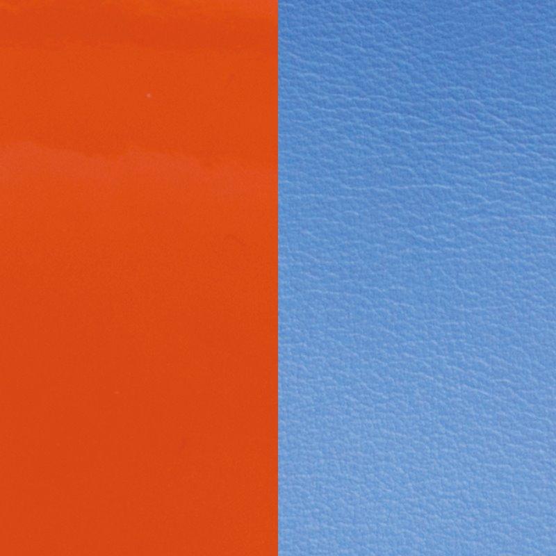 Vinyle Demi-Lune Réversible Pour Boucles d'Oreilles Les Georgettes Orange et Bleu