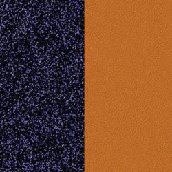 Cuir Réversible Pour Boucles d'Oreilles Les Georgettes Lapis et Papyrus