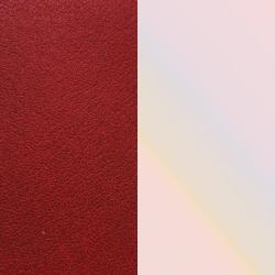 Vinyle Réversible Pour Boucles d'Oreilles Les Georgettes Carmin et Coquillage