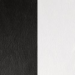 Cuir Réversible Pour Boucles d'Oreilles Les Georgettes Noir et Blanc