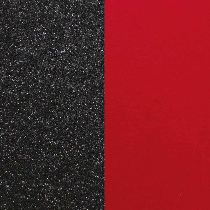 Cuir Réversible Pour Boucles d'Oreilles Les Georgettes Paillettes Noires et Rouge