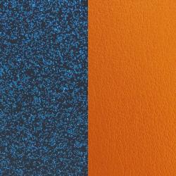 Cuir Pour Manchette Les Georgettes Glit Bleu et Abricot