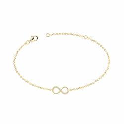 Bracelet Femme Signe Infini PLAQUE OR Jaune et Oxydes