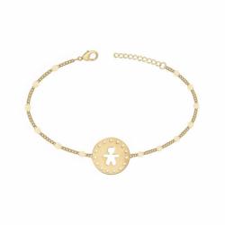 Bracelet Petit Garçon PLAQUE OR jaune
