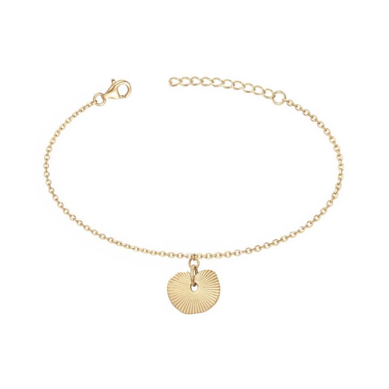 Bracelet Femme Coquillage PLAQUE OR jaune