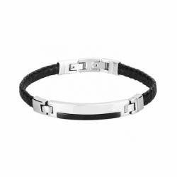 Bracelet Homme Cuir Phebus Acier et Céramique