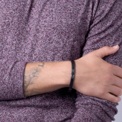 Bracelet Homme PHEBUS Acier Noir