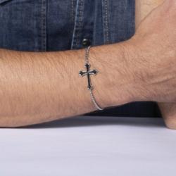 Bracelet Homme Croix PHEBUS LEGEND Acier