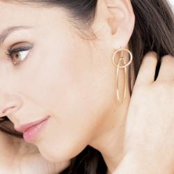 Boucles d'oreilles Femme Pendantes Phebus ACIER Doré