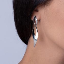 Boucles d'oreilles Femme Phebus Acier Argenté