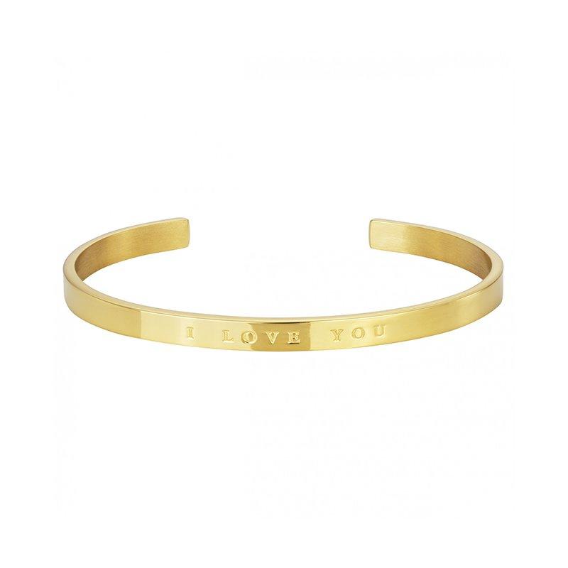 Bracelet femme PHEBUS acier  I LOVE YOU gold
