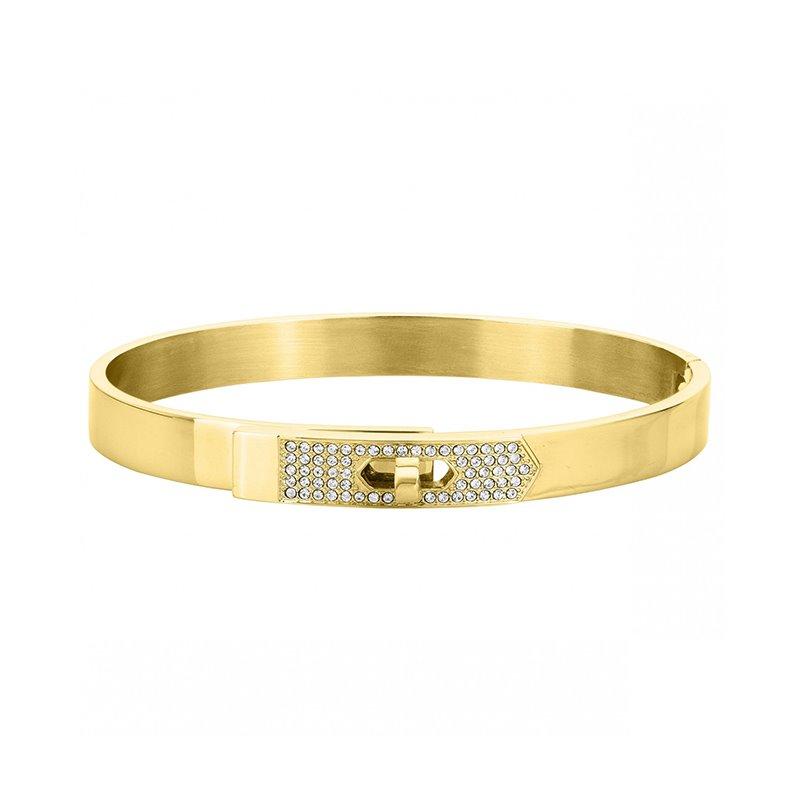 Bracelet femme Jonc PHEBUS acier cristal gold