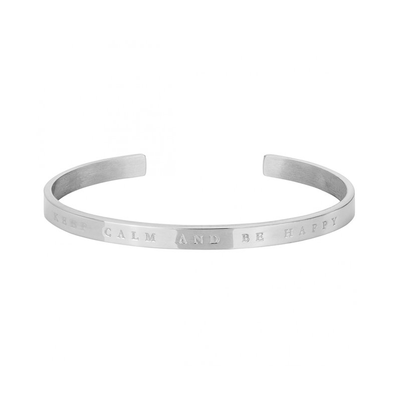 Bracelet femme PHEBUS acier  KEEP CALM AND BE HAPPY