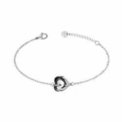 Bracelet Femme Coeurs EDORA Acier et Céramique noire