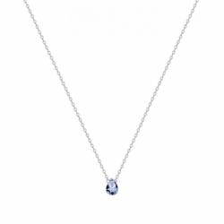 Collier Femme Goutte ARGENT 925/1000 et Spinelle Bleue
