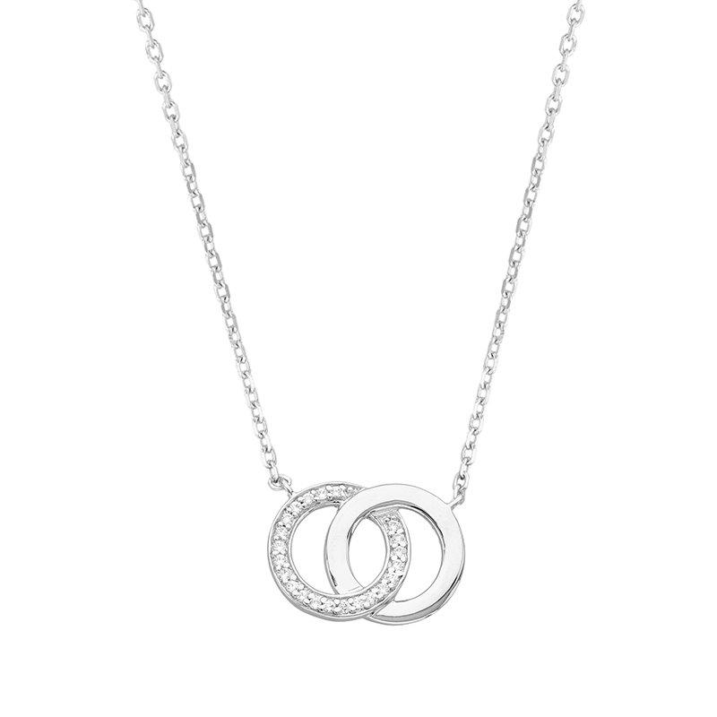 Collier Femme Cercle Entrelacés ARGENT 925/1000 et Oxydes