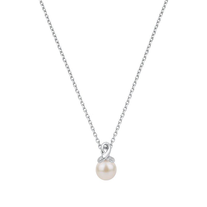 Collier Femme Perle ARGENT 925/1000 et Oxydes