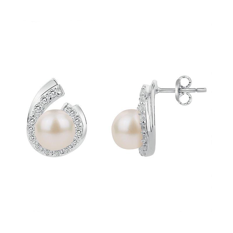 Boucles d'Oreilles Femme ARGENT 925/1000 Oxydes et Perles