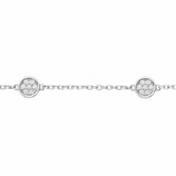 Bracelet Femme Chaîne Empierré ARGENT 925/1000 et Oxydes