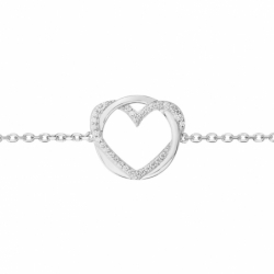 Bracelet Femme Coeur ARGENT 925/1000 et Oxydes