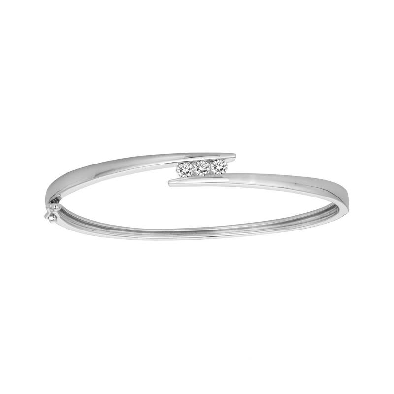 Bracelet Femme Jonc Trilogie EDORA ARGENT 925/1000 et Oxydes