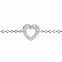 Bracelet Femme Coeurs EDORA ARGENT 925/1000 et oxydes