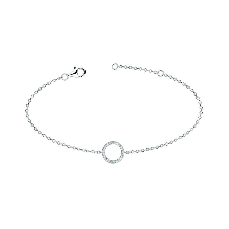 Bracelet Femme Cercle EDORA ARGENT 925/1000 et oxydes