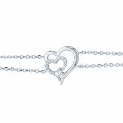 Bracelet Femme Coeur EDORA ARGENT 925/1000 et Oxydes