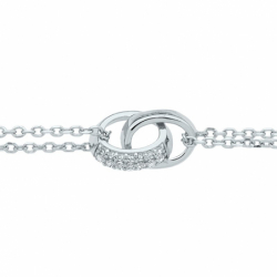 Bracelet Femme Menottes EDORA ARGENT 925/1000 et Oxydes