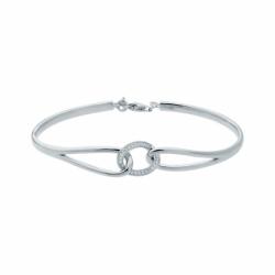 Bracelet Femme Jonc EDORA ARGENT 925/1000 et Oxydes