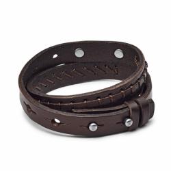 Bracelet Homme Fossil double cuir